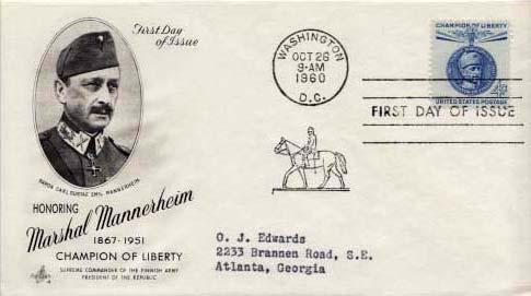 United States, First Day Cover, Finland