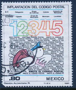 MEXICO 1259 Inauguration zip codes (Codigo Postal) Used (898