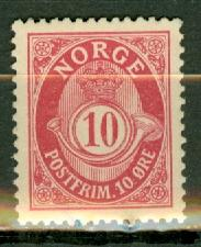 Norway 51d (rose) mint CV $350