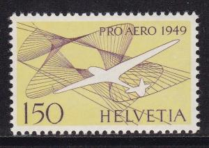 Switzerland 1948 150fr. Airmail Glider in Symbolized  Bouyancy VF/NH/(**)