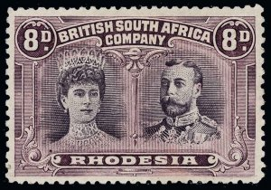 Rhodesia Scott 109a Variety Gibbons 185a Mint Stamp