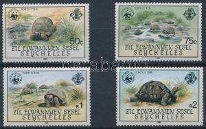 Seychelles-Zil Elwannyen Sesel stamp WWF Turtles set 1985 MNH WS221451