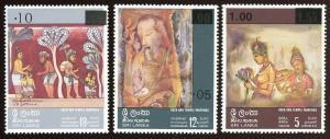 Sri Lanka - Sc # 538 - 540.  MNH. 2017 SCV 23.50
