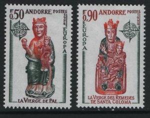 ANDORRA, 232-233, HINGED, 1974, EUROPA