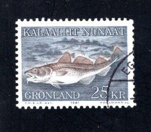 Greenland 140  VF, Postally Used, CV $4.25 ...2510136