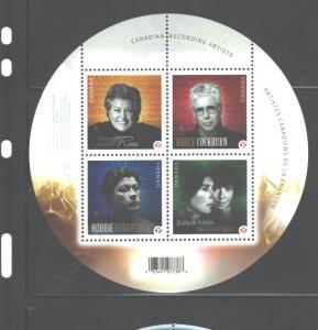 CANADA 2007, CANADIAN SINGERS MS's.#2221-2222, MNH