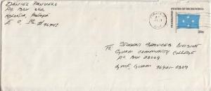 Caroline Islands Micronesia 20c Micronesia Flag Envelope c1984 Ponape, CI 969...