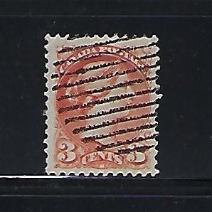 CANADA SCOTT #37 1870-89 SMALL QUEEN 3 CENT (ORANGE RED) USED