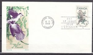 Canada, Scott cat. 478. Gray Jays, Bird issue. First day cover. ^