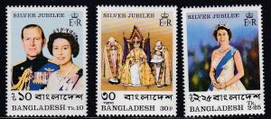 Bangladesh # 123-125, Q E II Reign Anniversary, NH Half Cat
