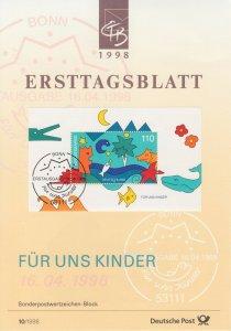 Germany, 1998 Ersttagsblatt, Second Quarter complete, 13 First Day Cards, VF