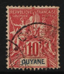 French Guiana 1892/1904 Navigation & Commerce 10c (1/19) USED