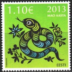 Estonia. 2013. 755. Year of the snake, Chinese New Year. MNH.
