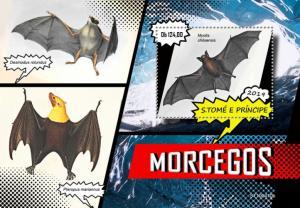 SAO TOME - 2019 - Bats - Perf Souv Sheet - MNH