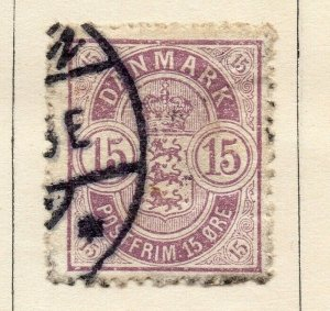 Denmark 1875 Early Issue Fine Used 15ore. NW-113852