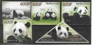 2014   CONGO  -  GIANT PANDA  -  MNH