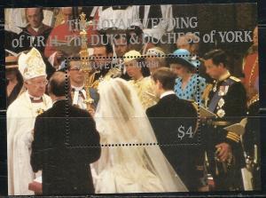 Tuvalu Nukufetau 60 1986 Prince Andrew Wedding s.s. MNH