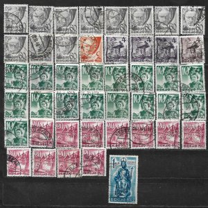 COLLECTION LOT OF 45 GERMANY  RHINE PALATINATE 1948+ STAMPS CLEARANCE CV+ $21