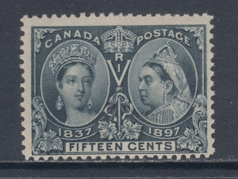 Canada Sc 58 MNH. 1897 15c steel blue QV Jubilee F-VF