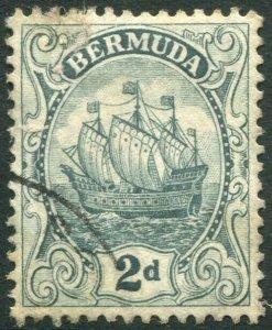 BERMUDA-1913 2d Grey Sg 47 GOOD USED V37265