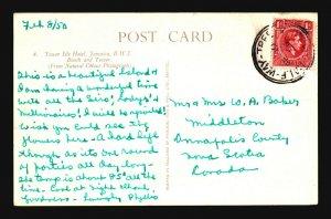 Jamaica 1950 HalfWay Tree Postcard to Canada - Z17637