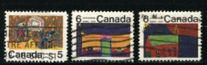 Can #522,526,528  u   VF 1970 PD