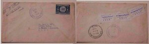 HONDURAS  3 EXPO SEALS 1939 SANTA ROSA DE COPAN B/S PUERTO CORTES & USA