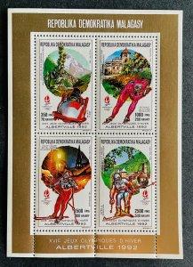 Mini Sheet Stamps O.G Albertville 92/ Madagascar 90 PERF.