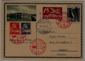 Switzerland Zeppelin card 14.9.30 Zurich