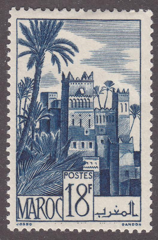 Fr Morocco 243 Hinged 1948 Ouarzazat District