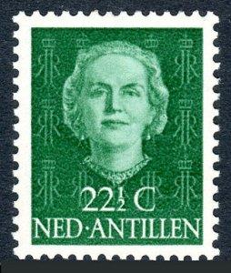 Netherlands Antilles 221, 22 1/2c, MNH. Queen Juliana, 1954