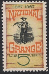 Scott 1323- National Grange, 100 Years, Farmer- MNH 5c 1967- unused mint stamp