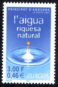 Andorra, French Sc# 536 MNH 2001 Europa