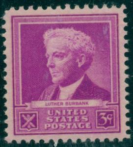 US #876 3¢ Burbank, og, NH, PSE certificate Grade XF/Superb 95