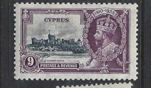 CYPRUS   (PP2903B)     KGV SILVER JUBILEE  SG  147   MOG