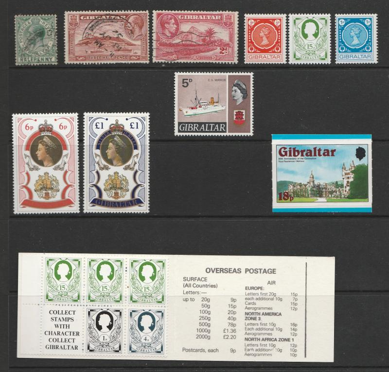 Small Collection From Gibraltar Mostly Unused