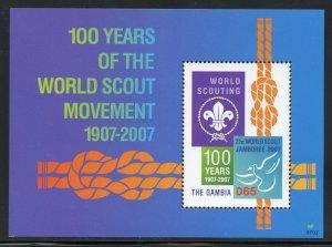 Gambia 3055 MNH 100th. Year Scout World Jamboree Souvenir Sheet 2007