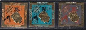Davar Island, John F. Kennedy Overprinted for the U.S. Space Walk, NH Set