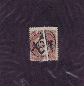 SC# 65 USED 3c 1861 FANCY MASONIC CANCEL POMFRET CT WITH PAPER FOLDS LOOK
