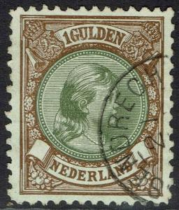 NETHERLANDS 1893 PRINCESS 1G PERF 11.5 X 11 USED