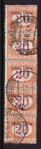 Eritrea, Scott J3 Used Strip of 5