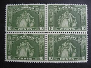 CANADA Loyalists Statue Sc 209 MNH block of 4, check it out!!
