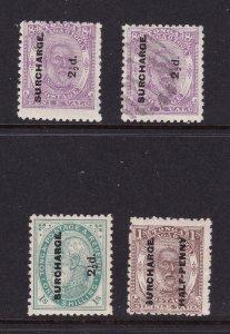 Tonga x 4 old ones 3M & 1U