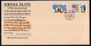 Norfolk Island 371-372 Agricultural Show U/A FDC