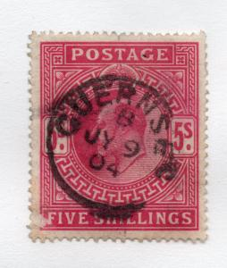 Great Britain - SG# 263 Used (scuff on LL cnr)/ Guernsey 1904 CDS - Lot 0818201
