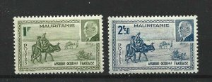 MAURITANIA  1942  MARSHALL PETAIN SET  MH