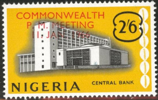 Nigeria Scott 198 MNH** 1966 bank overprint