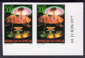Senegal 1977 Sc#C144 Viking space mission to Mars PAIR  IMPERFORATED MNH