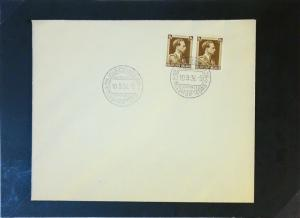 Belgium 1936 70c Pair First Day Cover - Z3056