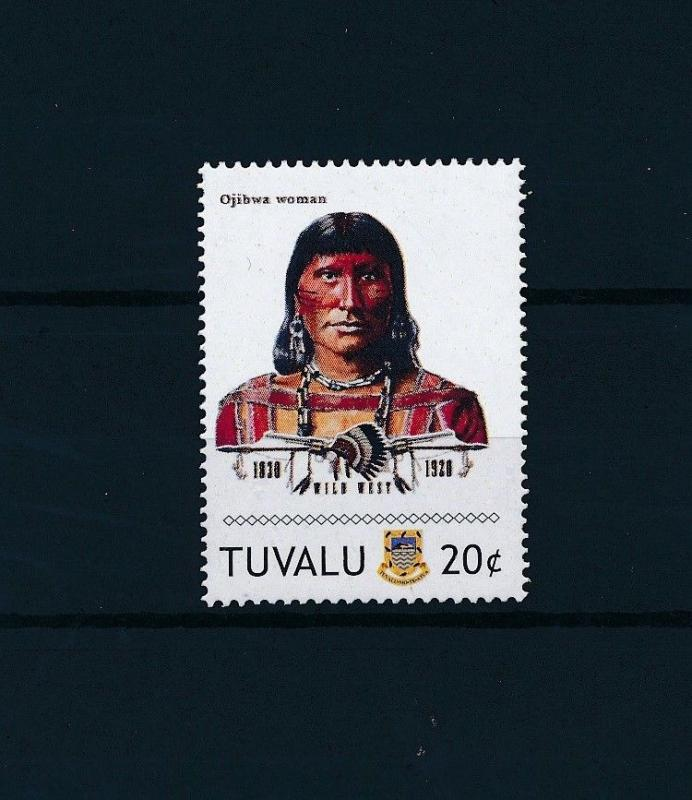 [80913] Tuvalu 2011 Native Americans Indians Ojibwa Woman MNH
